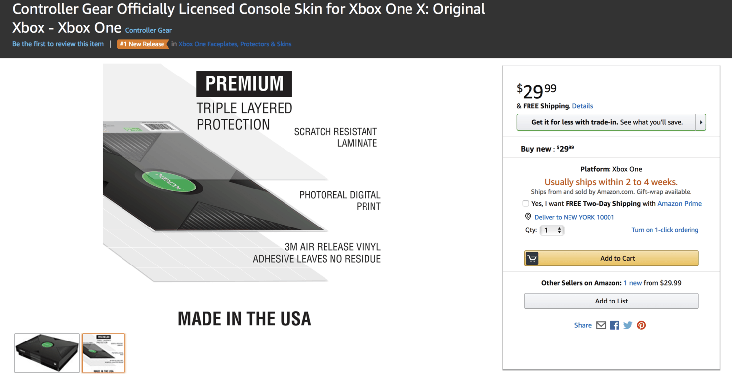 Go back in time with this cool og xbox sticker for the xbox one x - onmsft. Com - may 4, 2018