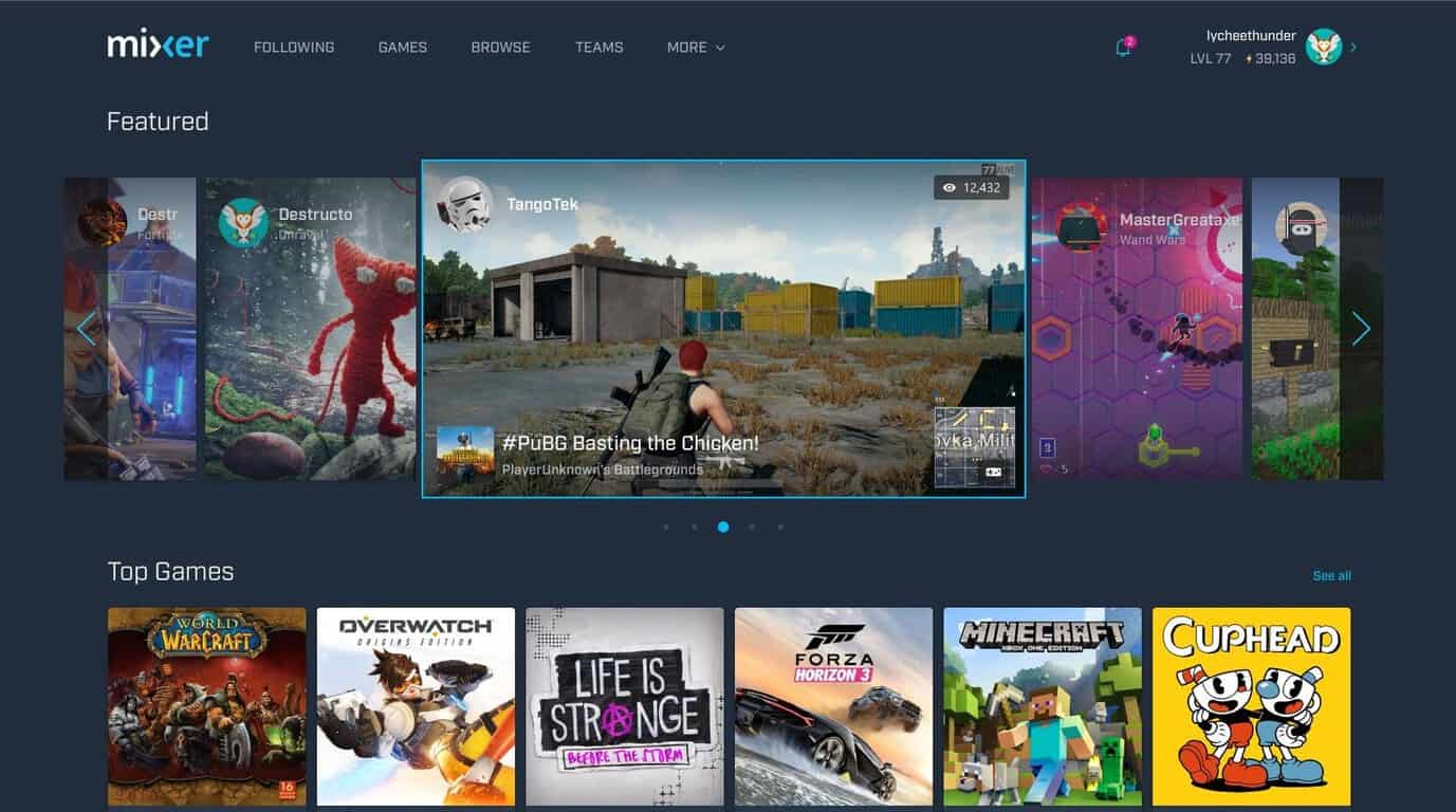 Mixer celebrates first anniversary with refreshed look, mixplay - onmsft. Com - may 24, 2018