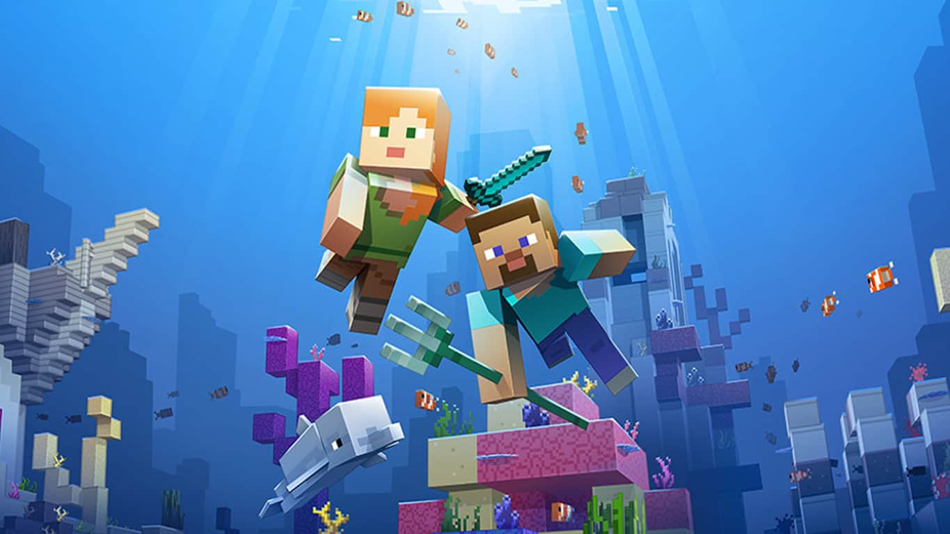 Minecraft Aquatic Update on Xbox One, Windows 10, Windows phone, Mixed Reality
