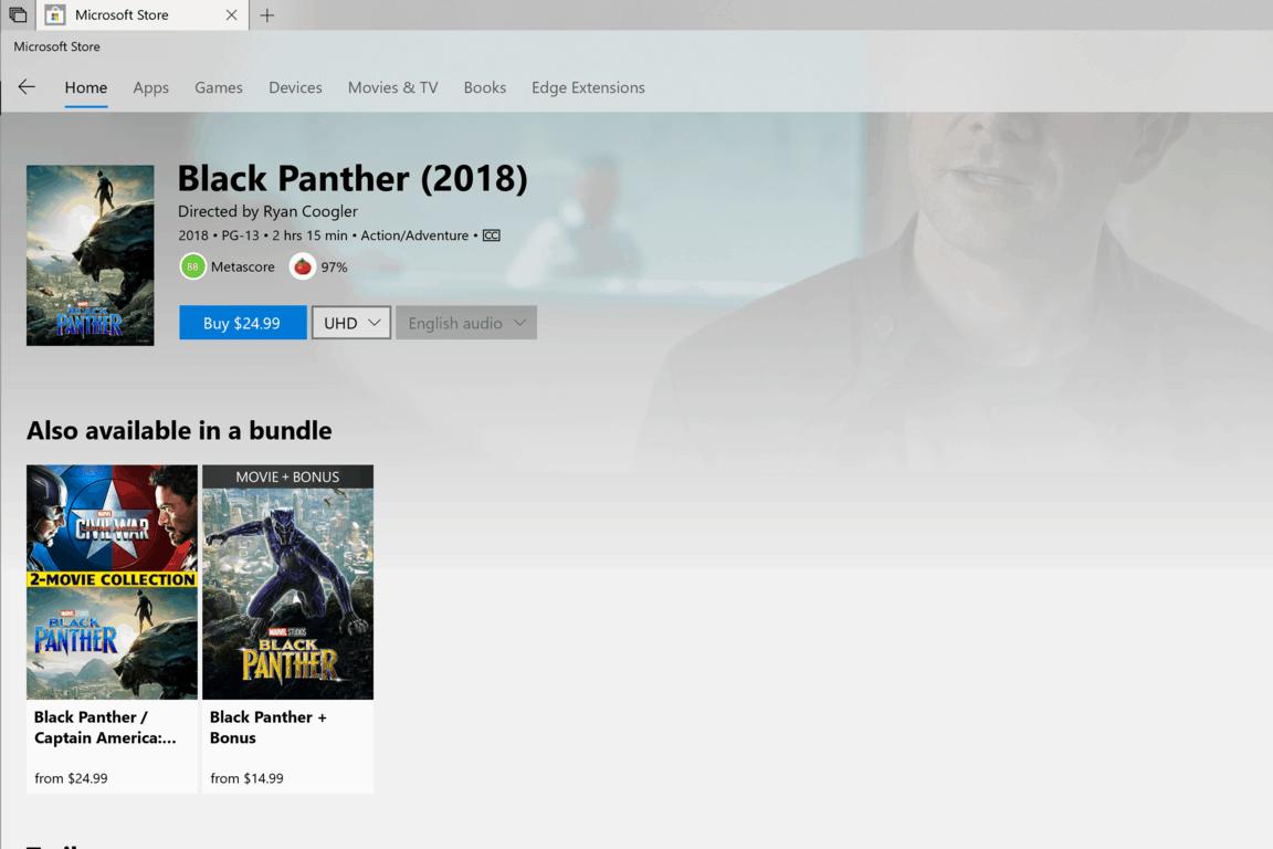Microsoft, Microsoft Store, Black Panther