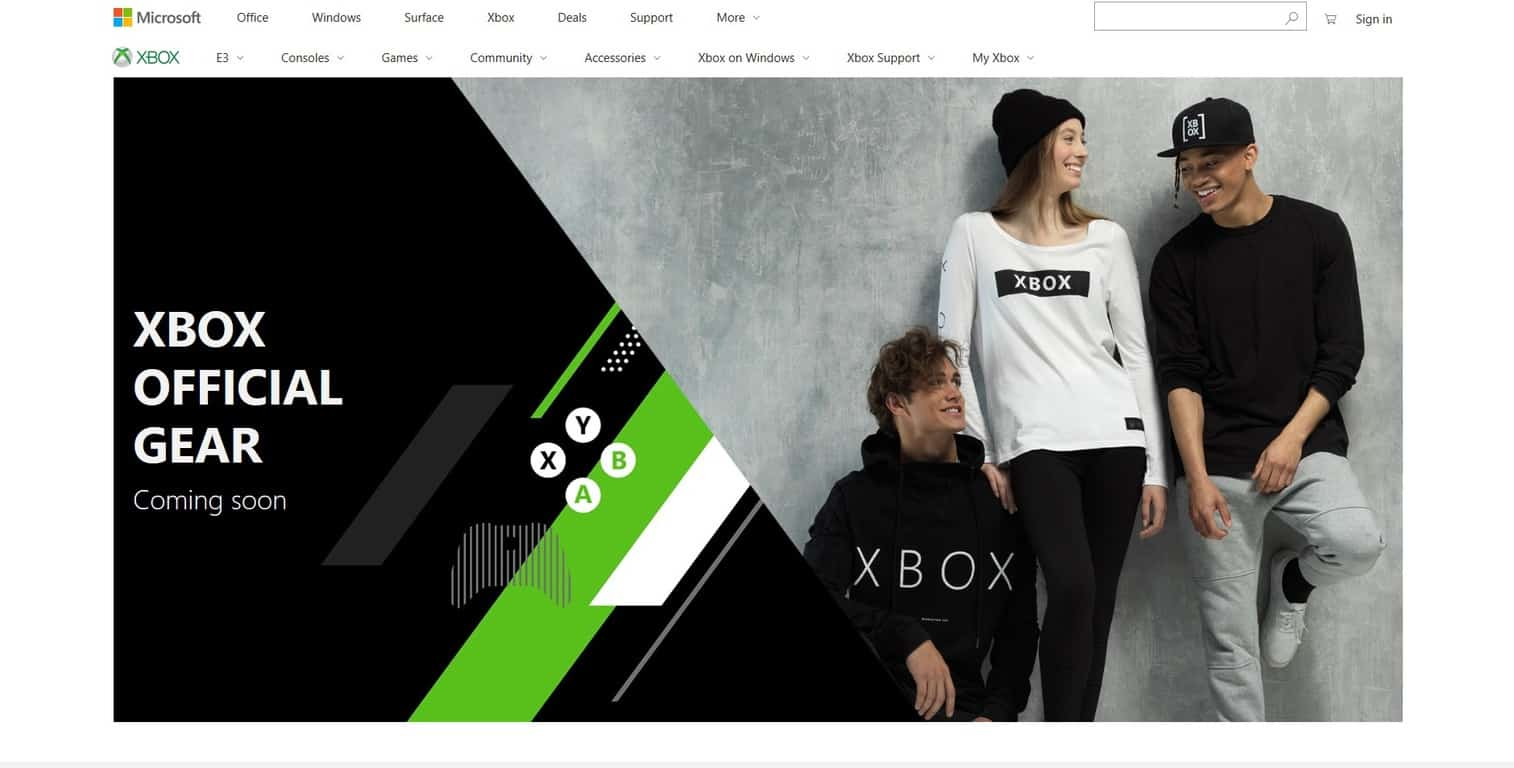 Xbox 'Official Gear' Store pops up on the eve of E3 OnMSFT.com June 8, 2018
