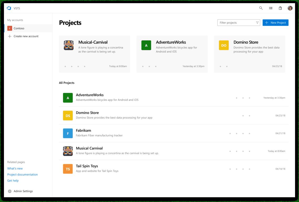 Visual studio team services is going fluent design - onmsft. Com - june 20, 2018