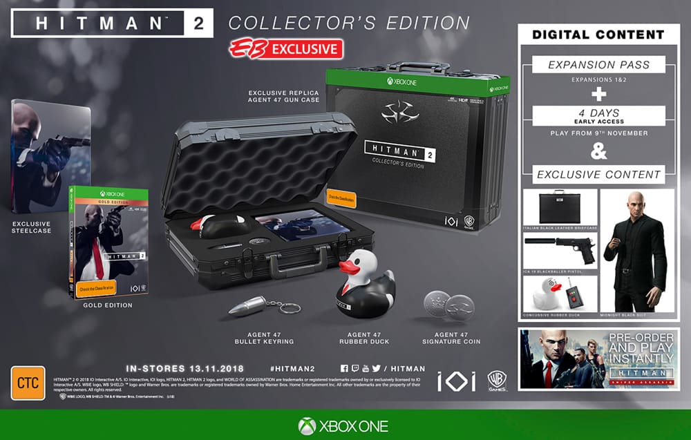 Hitman 2 Collector's Edition on Xbox One