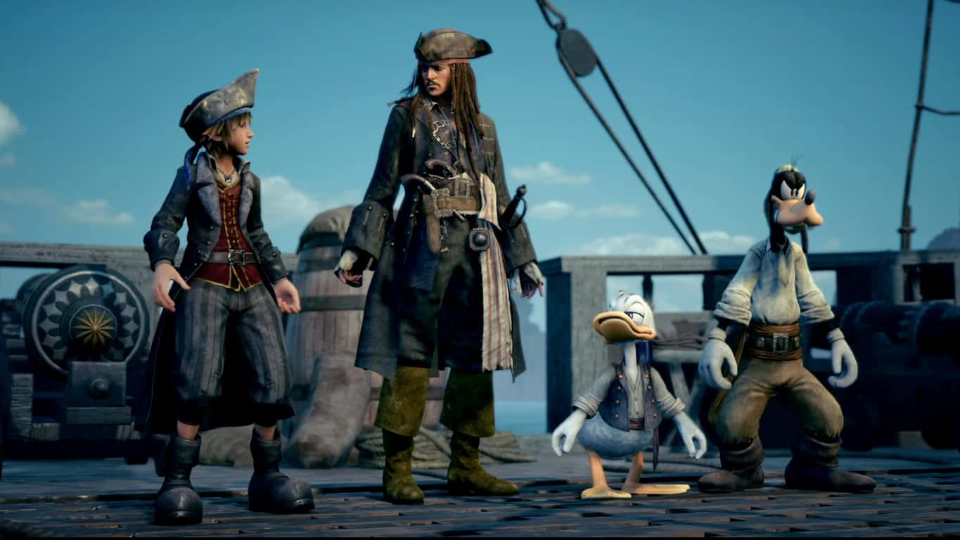 Kingdom Hearts 3 video game on Xbox One