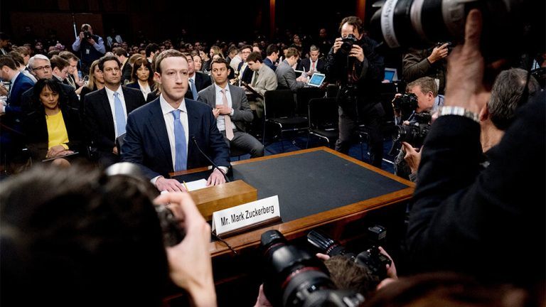 Facebook, microsoft, google, apple sitting in front of congress