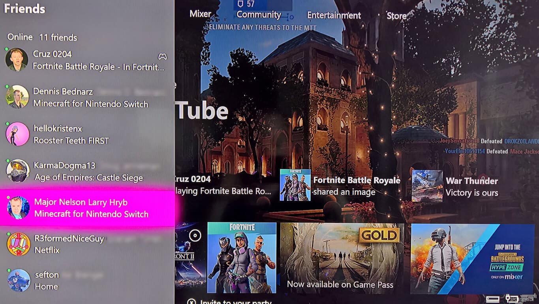 Minecraft for Nintendo Switch on Xbox One dashboard