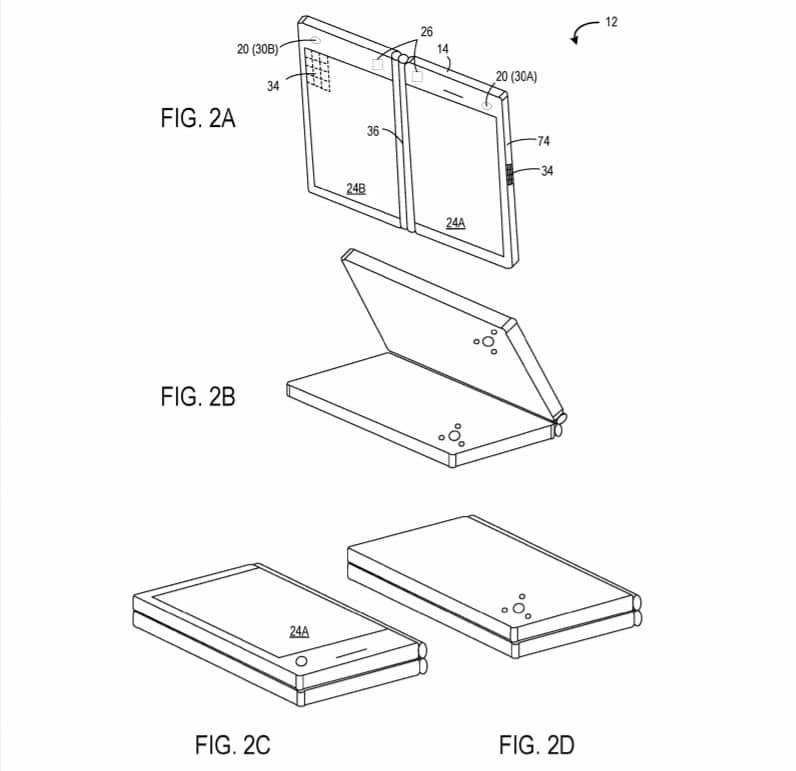 Dual screen device with two cameras patent
