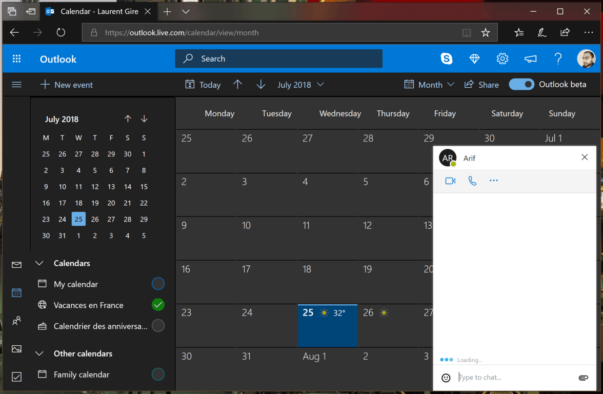 Redesigned outlook. Com adds dark mode option, gets ready to drop beta tag - onmsft. Com - july 25, 2018