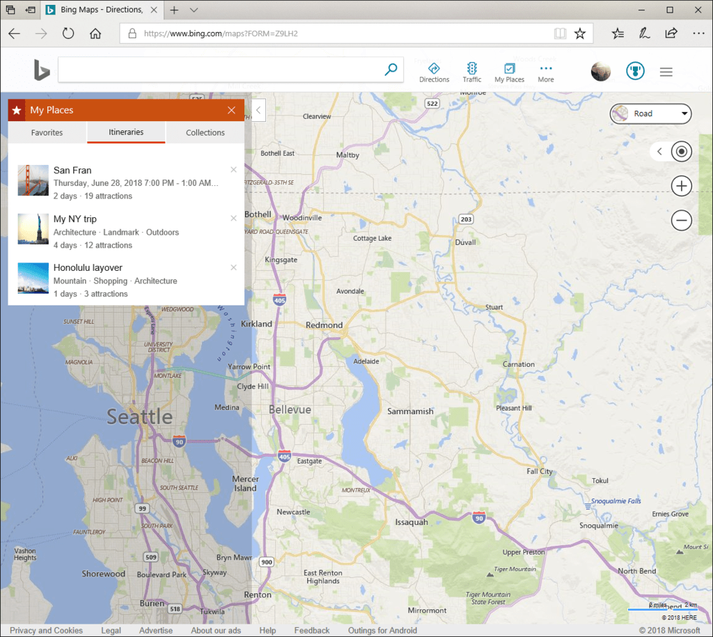Build your own custom travel itineraries with bing maps - onmsft. Com - august 2, 2018