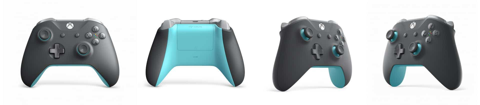 Microsoft unveils new phantom black and grey/blue xbox controllers - onmsft. Com - august 14, 2018