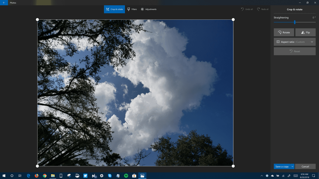 Fast Ring Windows Insiders get updated Photos app with new image editing UI OnMSFT.com August 20, 2018