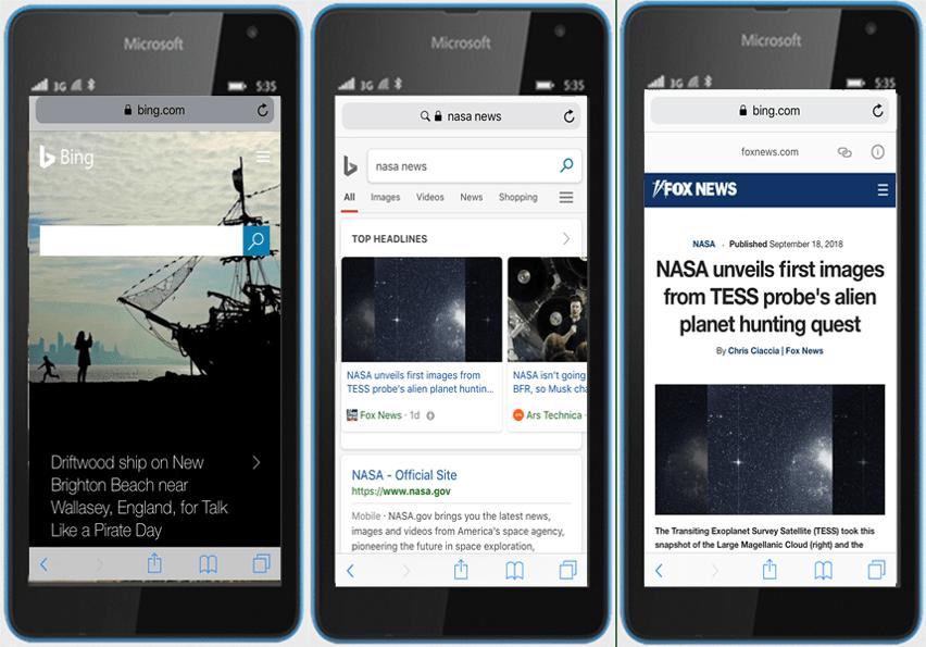 Bing starts showing amp-enabled websites on mobile - onmsft. Com - september 20, 2018