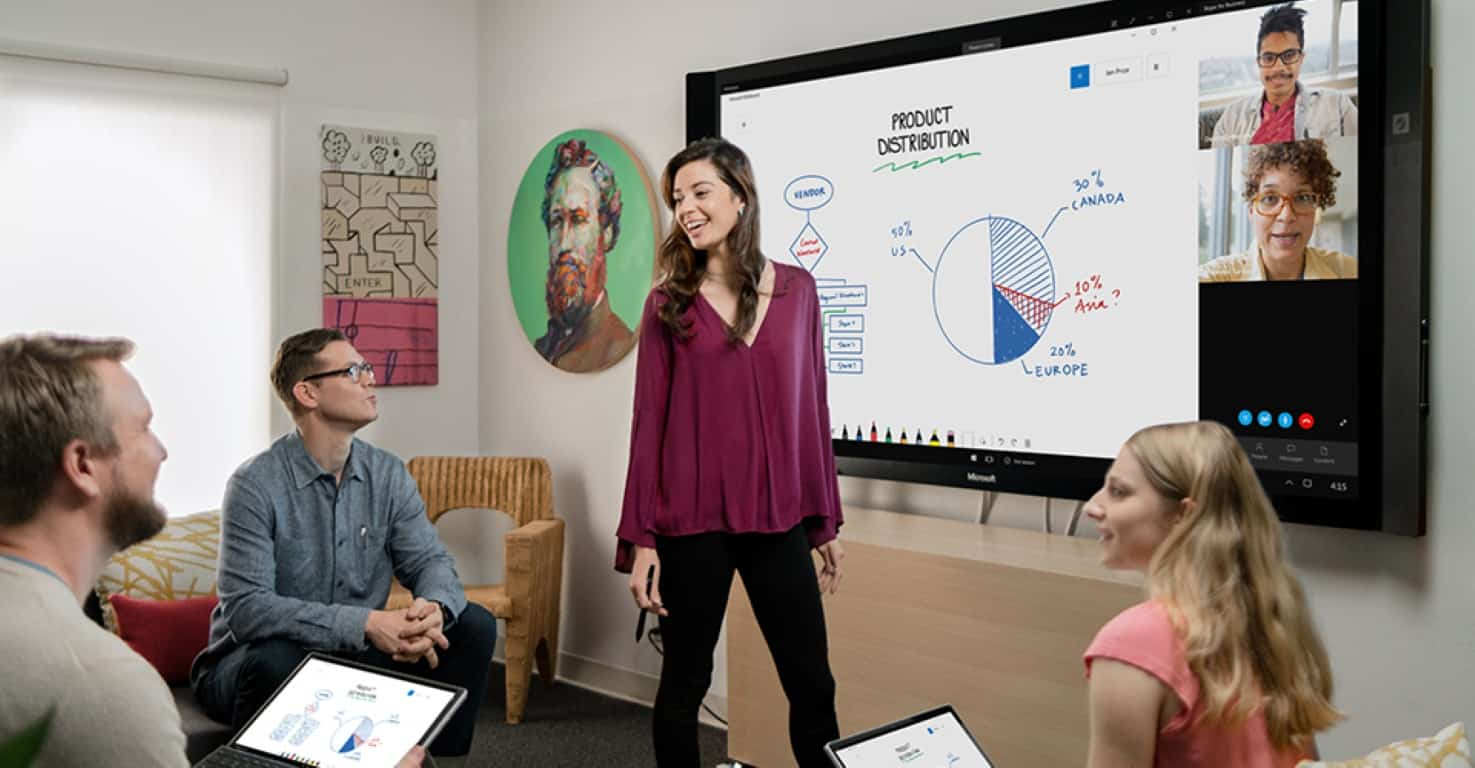 Microsoft Whiteboard comes to iOS, and to the web for ...
