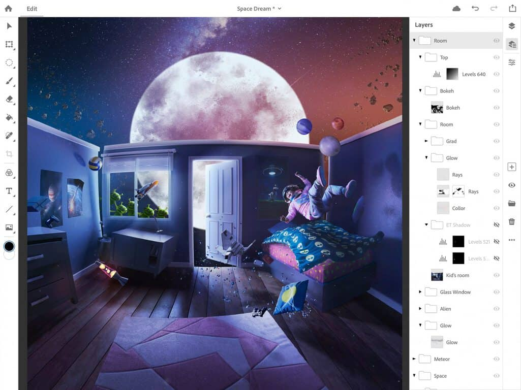 Adobe announces full photoshop for ipad, coming in 2019 - onmsft. Com - october 15, 2018