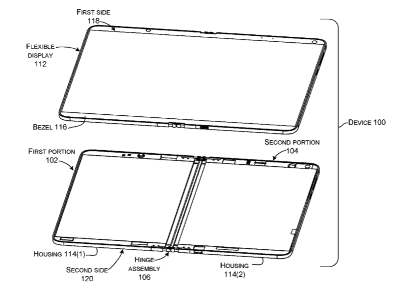 Another microsoft patent involving folding screens surfaces - onmsft. Com - october 11, 2018