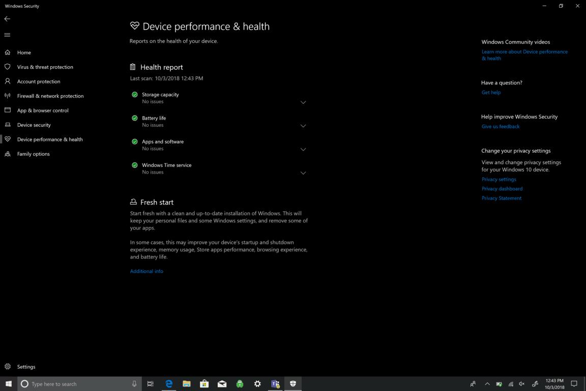 Microsoft, Windowws 10, Security, Windows Security