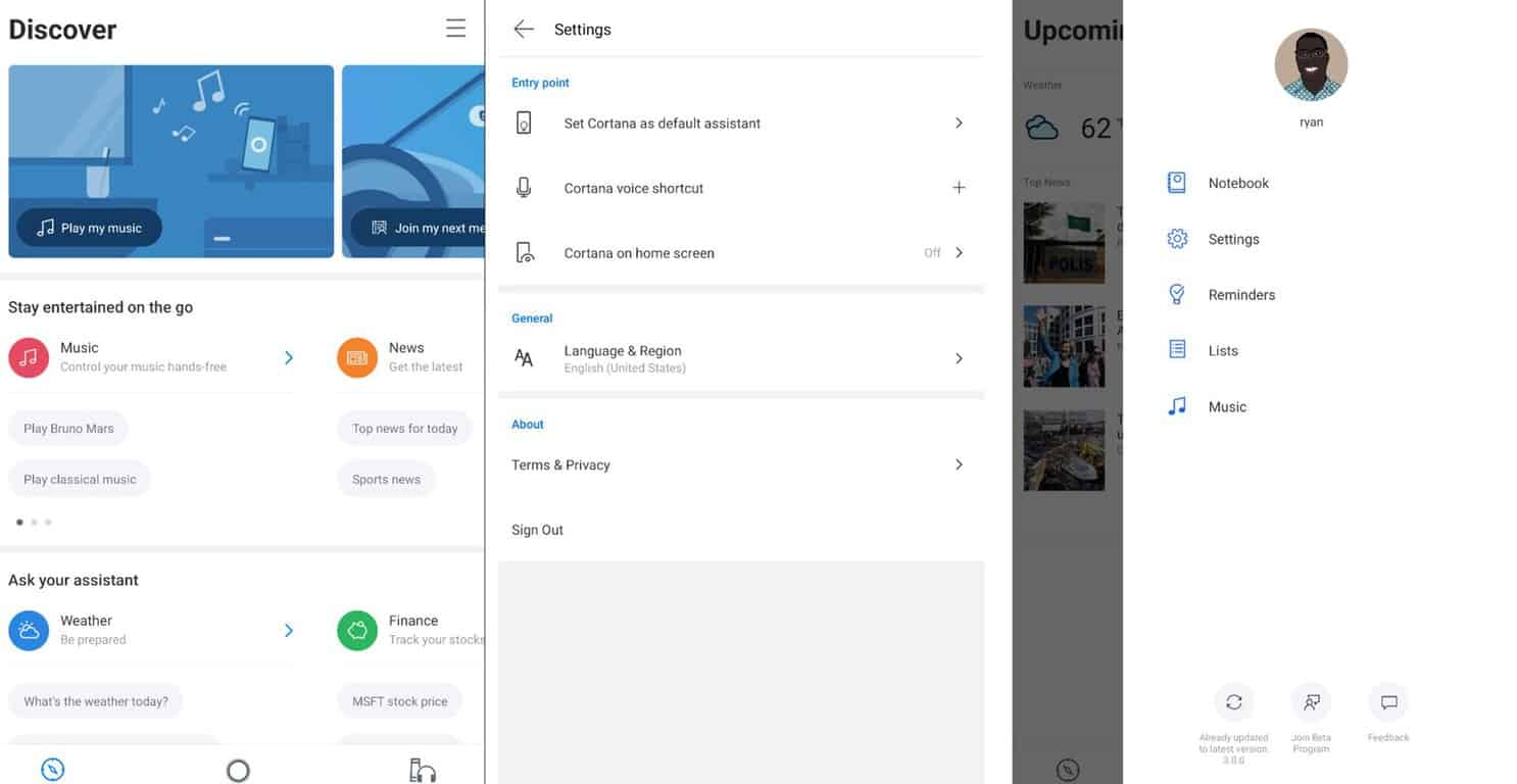 Microsoft test new cortana ui for android and ios with v3. 0 beta - onmsft. Com - october 15, 2018