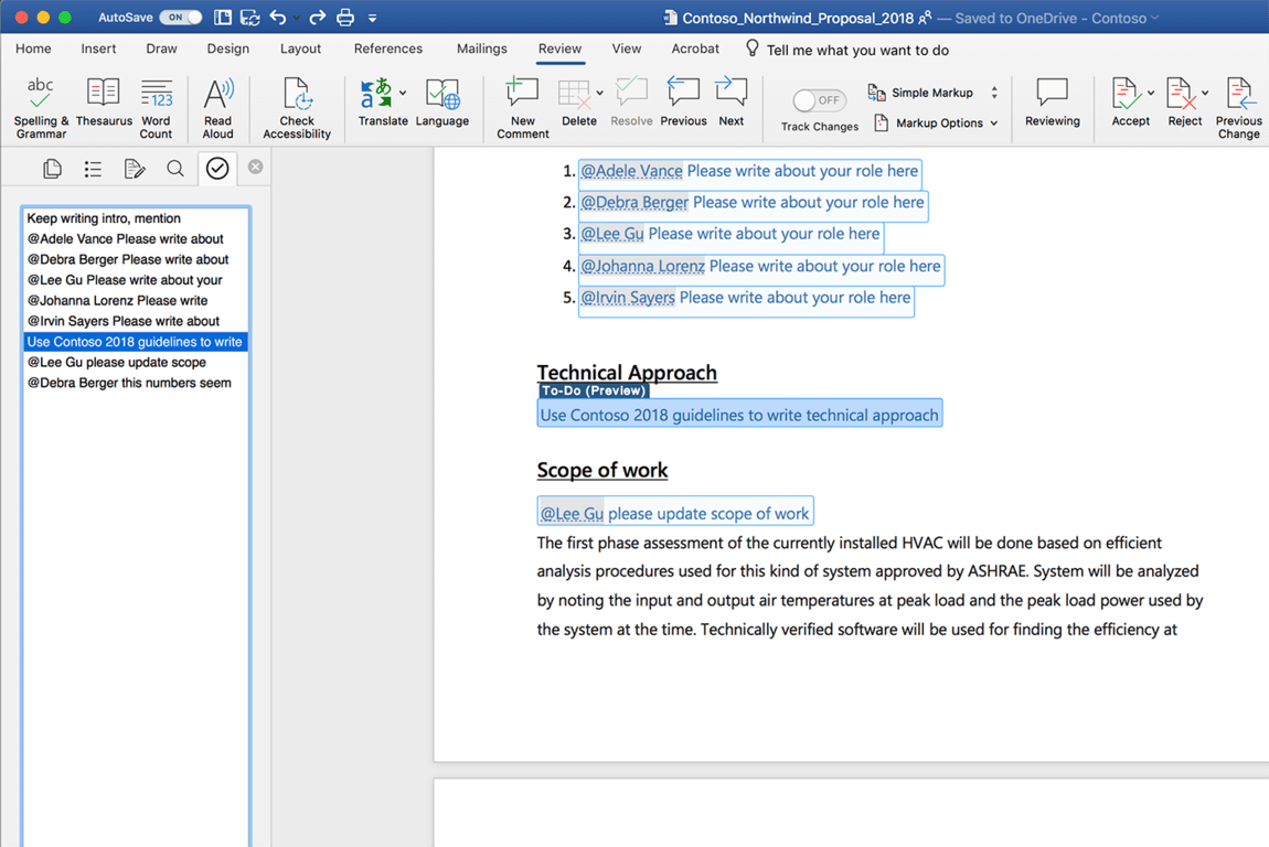 Microsoft Word Gets Intelligent About To-Do Lists