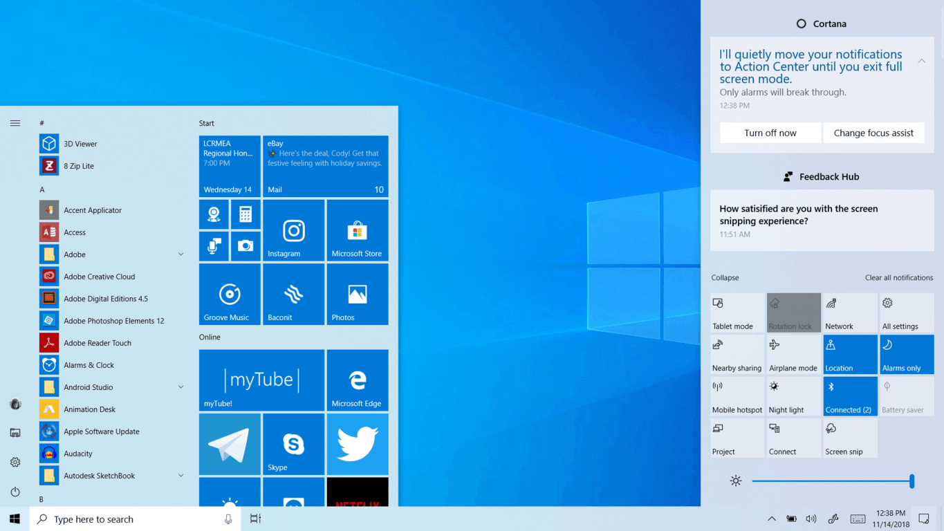 Hands On With Light Taskbar And More In Windows 10 Insider Build