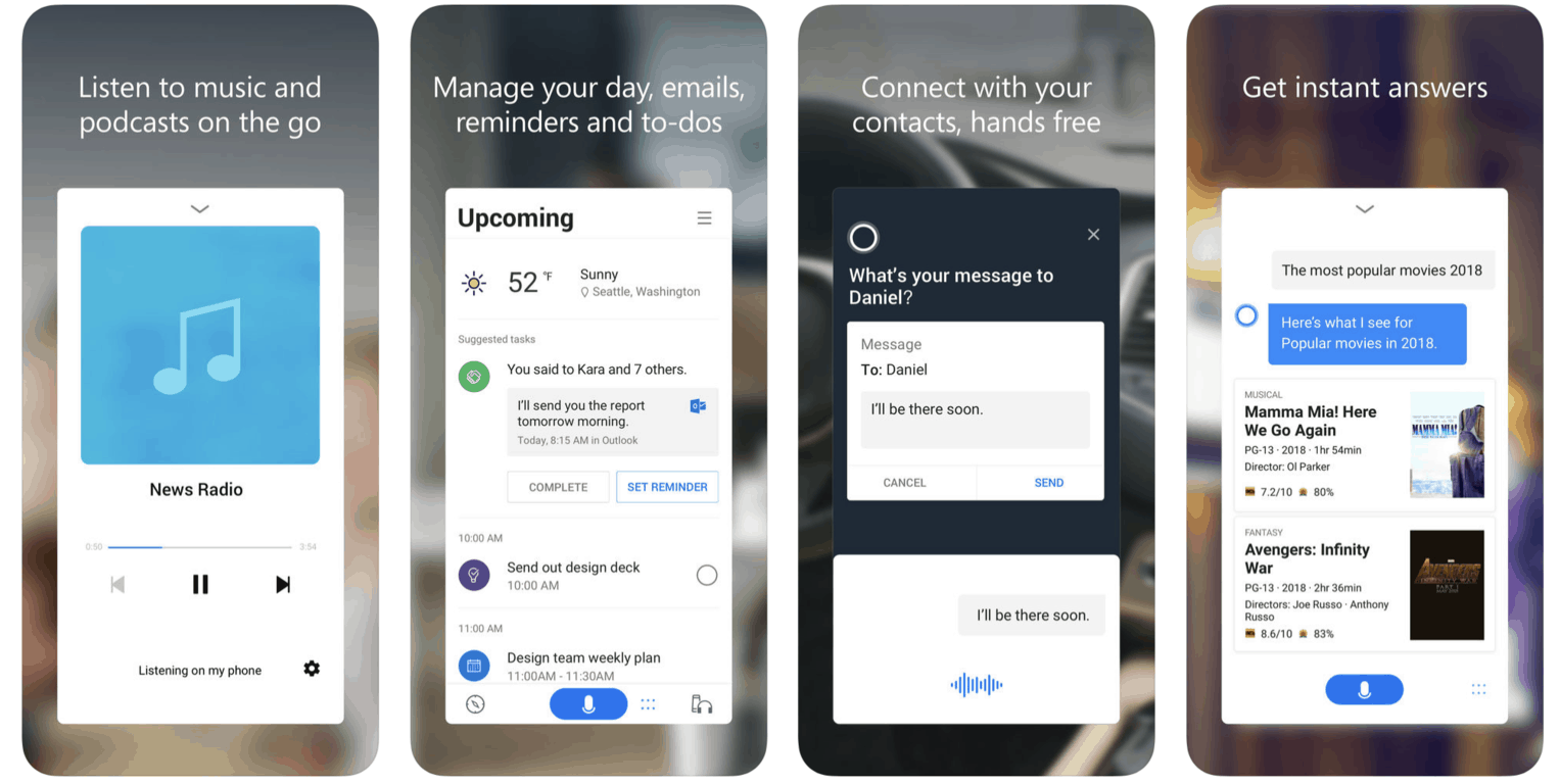 Cortana gets a big ios update with new navigation and conversational experience - onmsft. Com - november 14, 2018