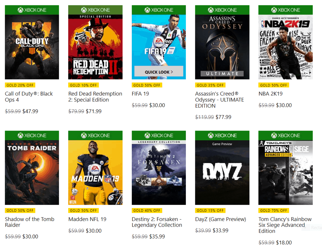 Xbox live gold members get early access to xbox's black friday deals starting today, game pass is just $1 for first month - onmsft. Com - november 15, 2018