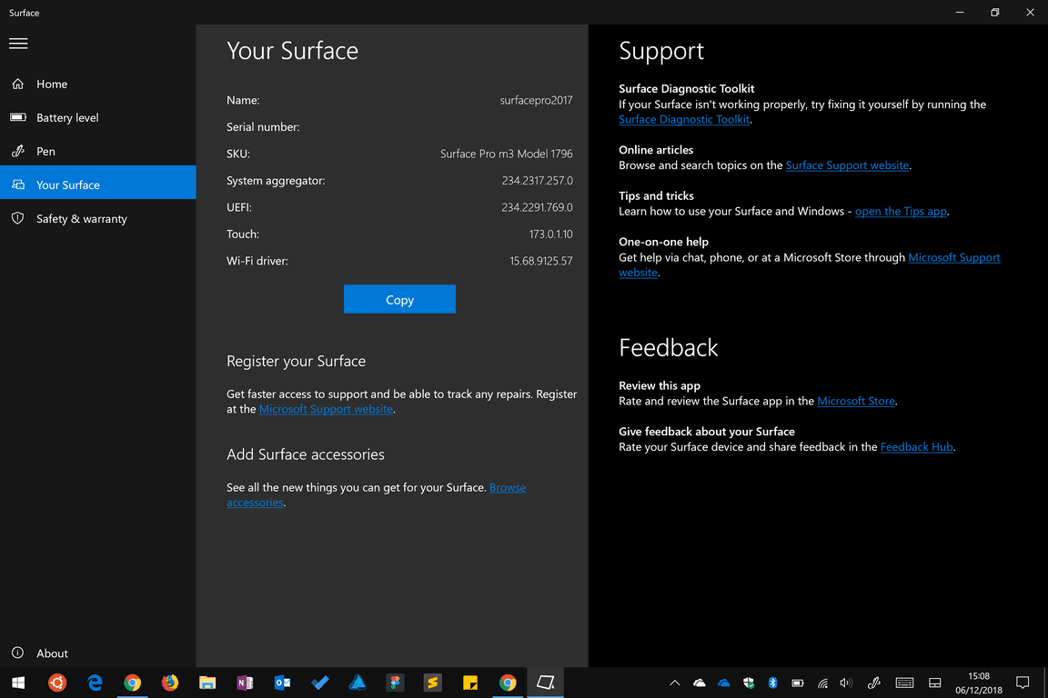 Surface app screenshot