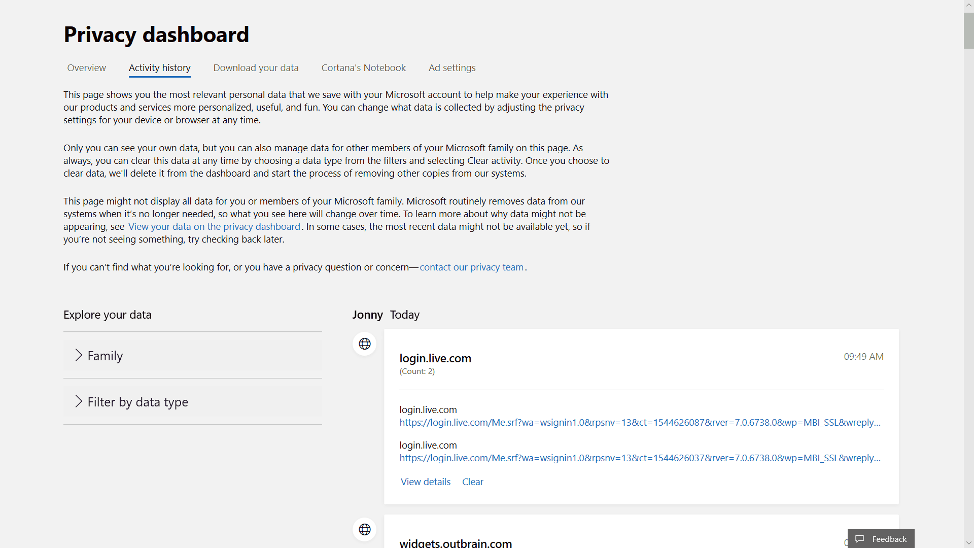 Windows 10 reportedly continues logging activity history in the cloud even when disabled (updated) - onmsft. Com - december 12, 2018