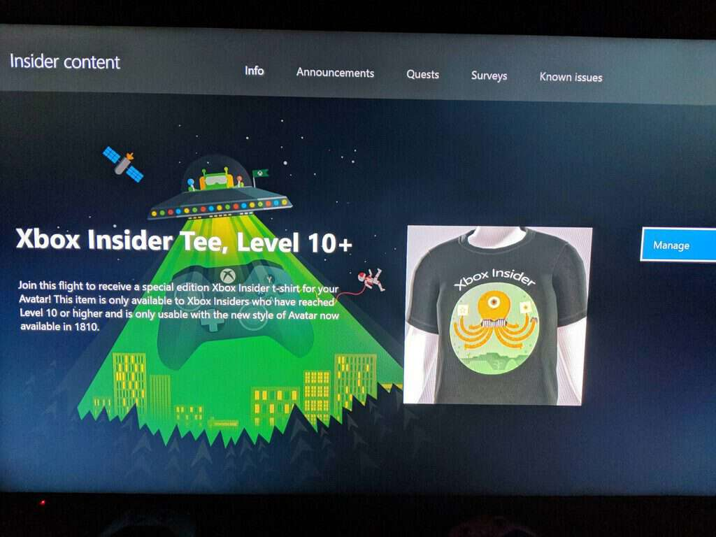 Select Xbox Insiders can get an exclusive Xbox Avatar t-shirt OnMSFT.com December 7, 2018