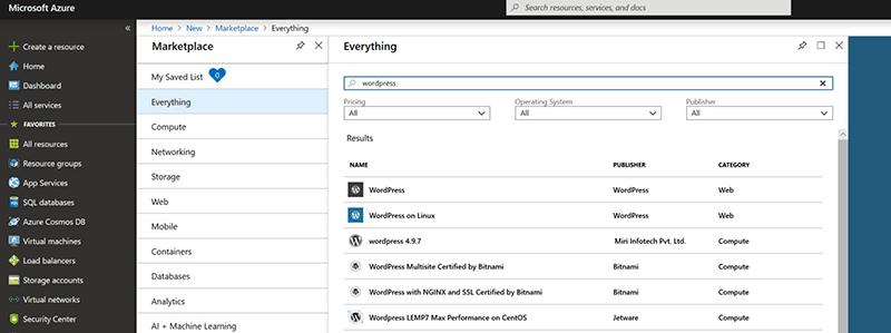 Azure VM choices