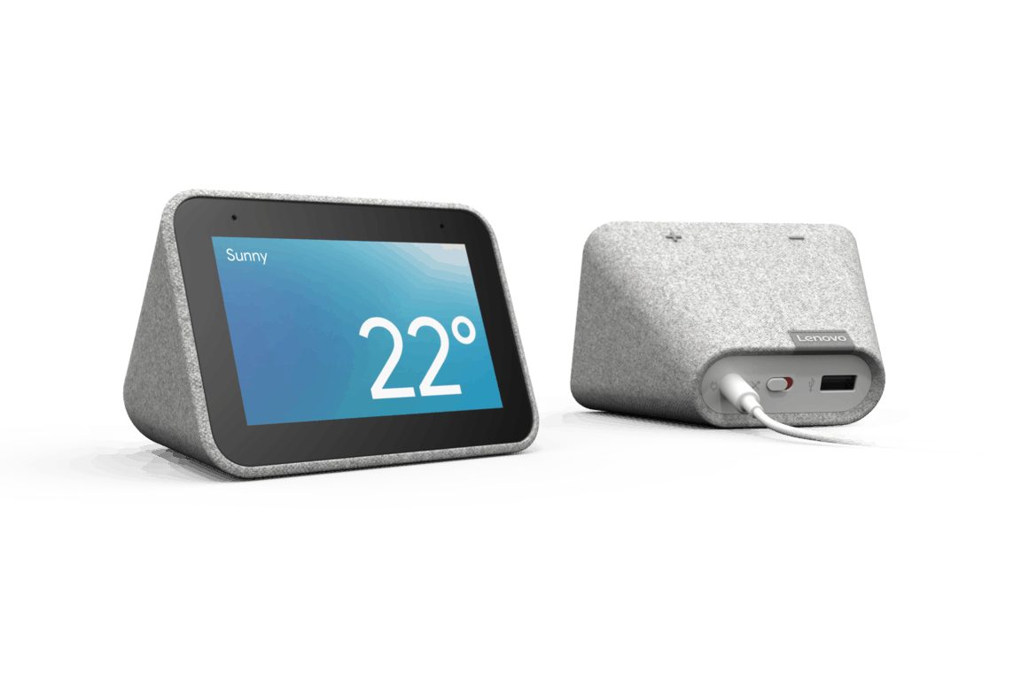 Lenovo straddles the fence, offering an alexa-enabled smart screen and google assistant powered clock - onmsft. Com - january 8, 2019