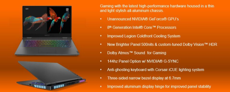 """Lenovo's 2019 gaming hardware includes 43-inch """"super wide"""" monitors and mechanical rgb keyboards - onmsft. Com - january 7, 2019"""