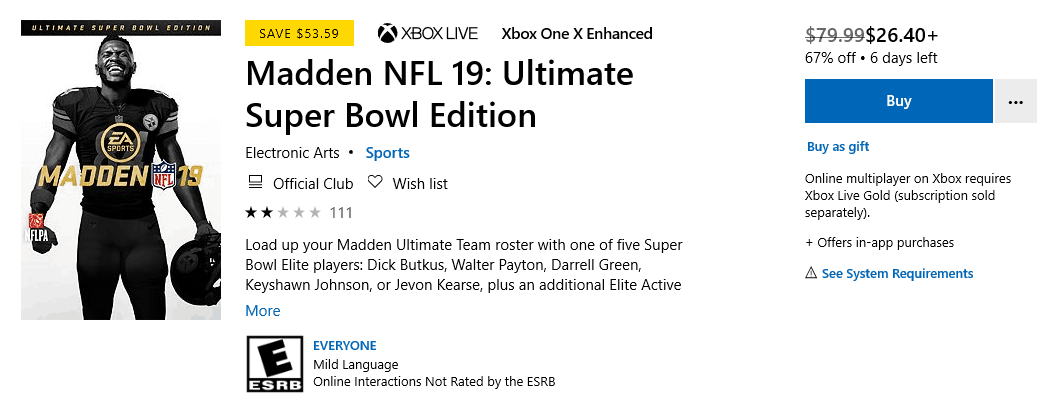 Save big on destiny 2, madden nfl 19 and assassin's creed games with this week's deals with gold - onmsft. Com - january 29, 2019