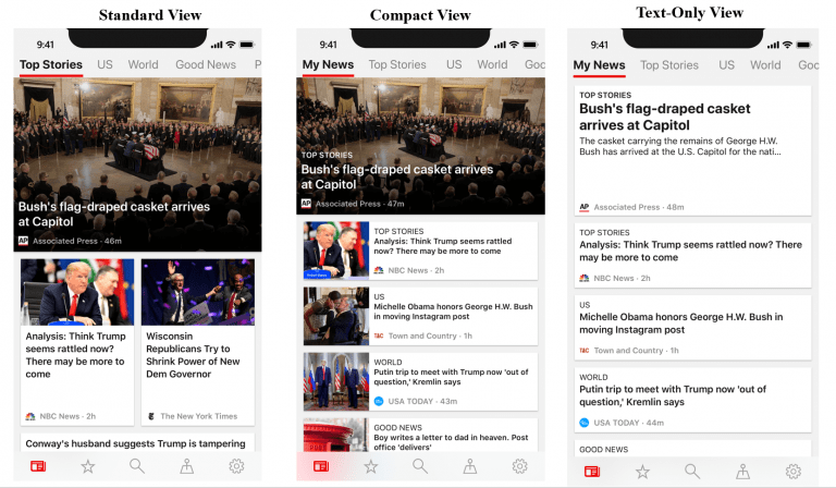 Microsoft news app for android updated with new layout choices - onmsft. Com - january 18, 2019