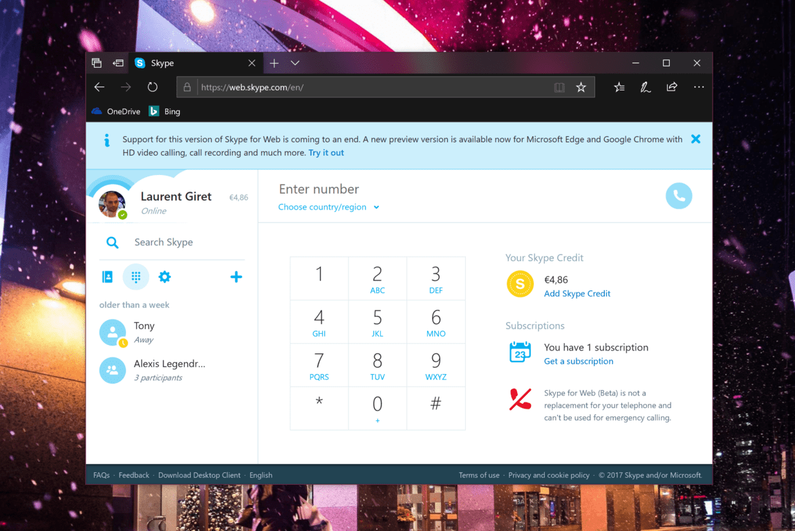 QnA VBage Skype for web will soon be replaced by new version that only works in Edge and Chrome
