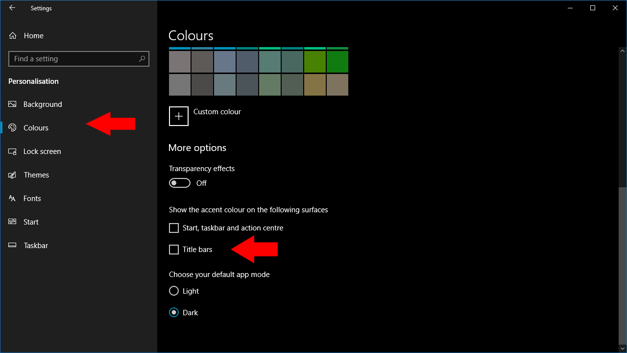 How to get dark theme title bars in Windows 10, without changing your accent colour OnMSFT.com January 16, 2019