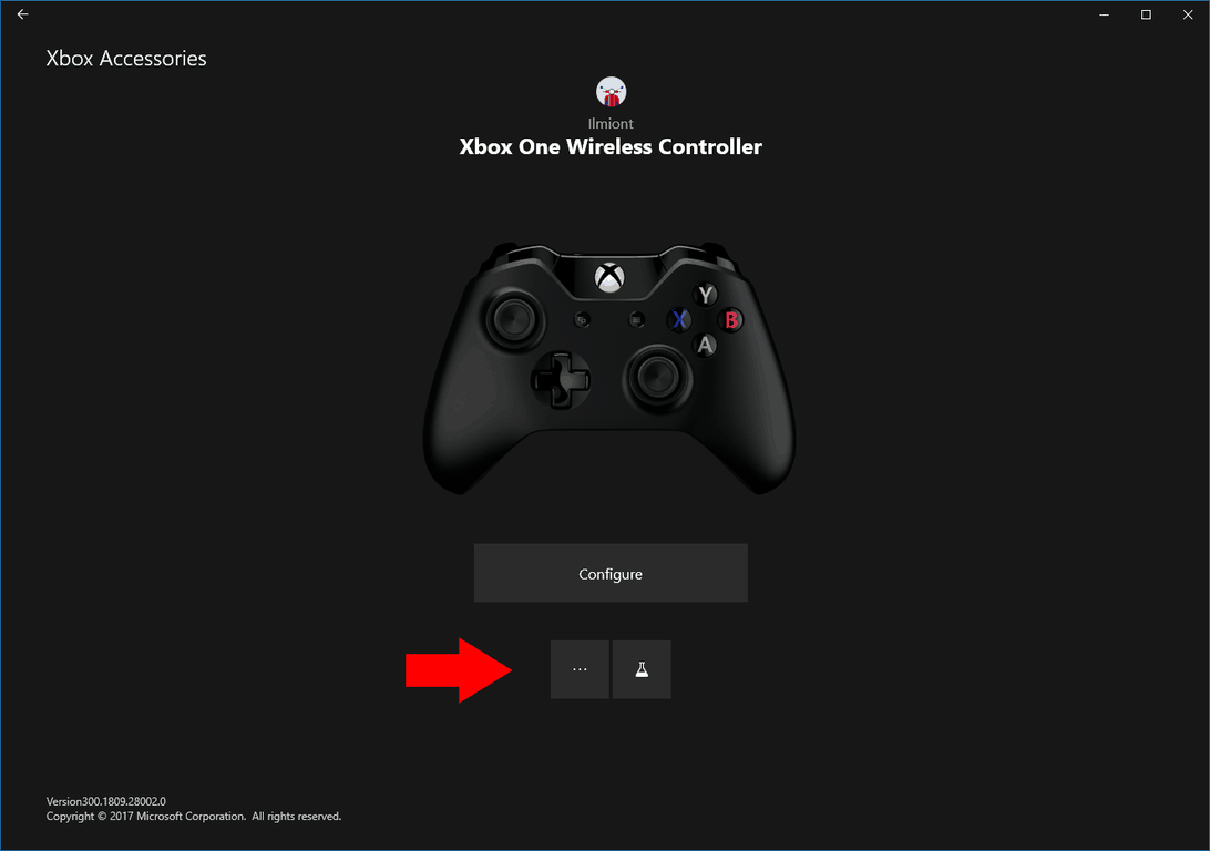 Updating an Xbox Controller's firmware from Xbox Accessories app