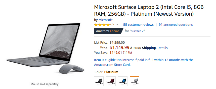 Amazon is having a sale on Surface Laptop 2 OnMSFT.com February 12, 2019