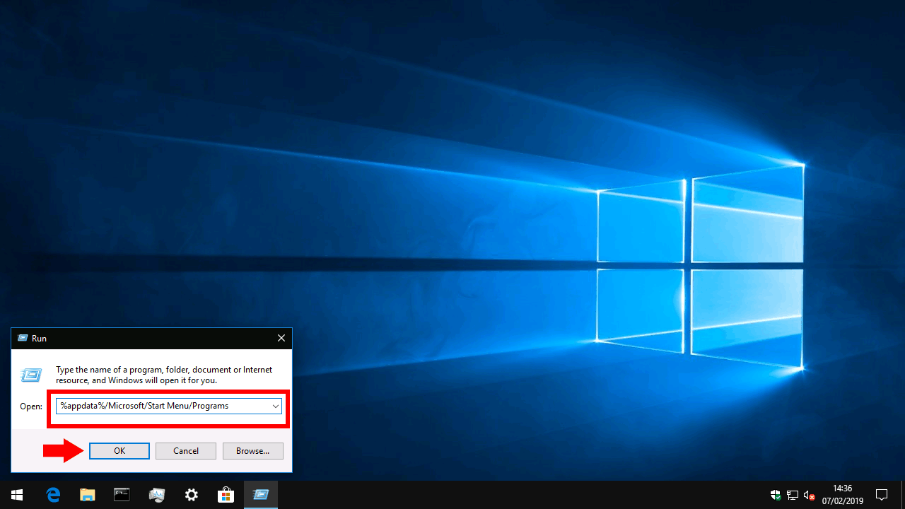 Windows 10 Start menu folder location