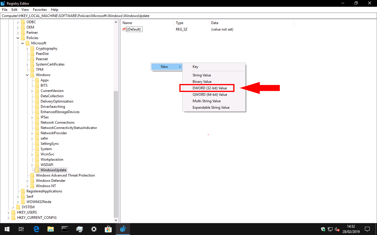 Disabling Windows 10 driver updates in the registry