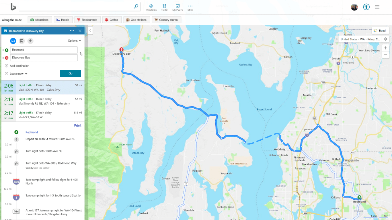 Bing maps adds colored traffic info to routes - onmsft. Com - march 21, 2019