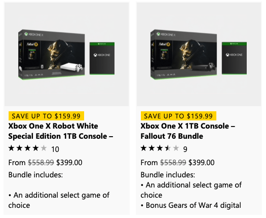 Deal: get an addition free game of your choice with the purchase of an xbox one bundle - onmsft. Com - march 8, 2019