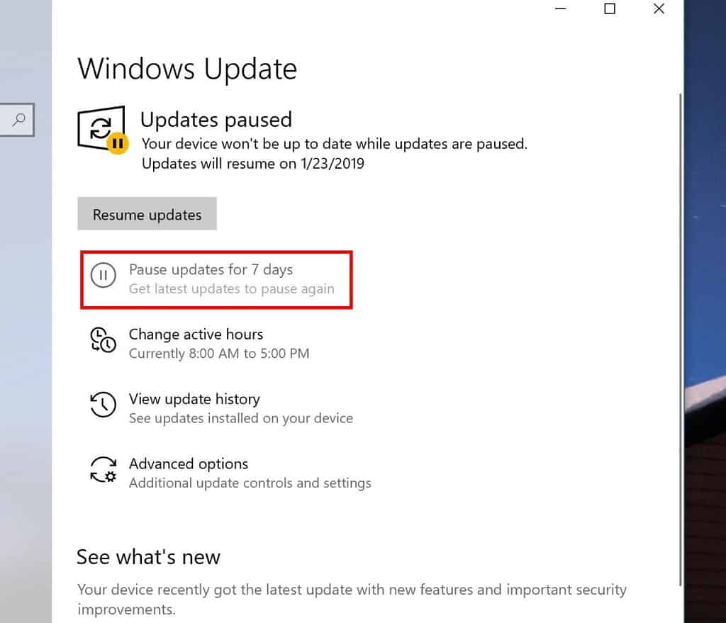 Pausing windows 10 updates for up to 35 days feature may be coming to home edition - onmsft. Com - march 13, 2019