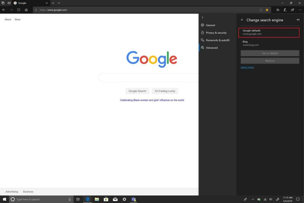 Microsoft, Edge, Windows 10