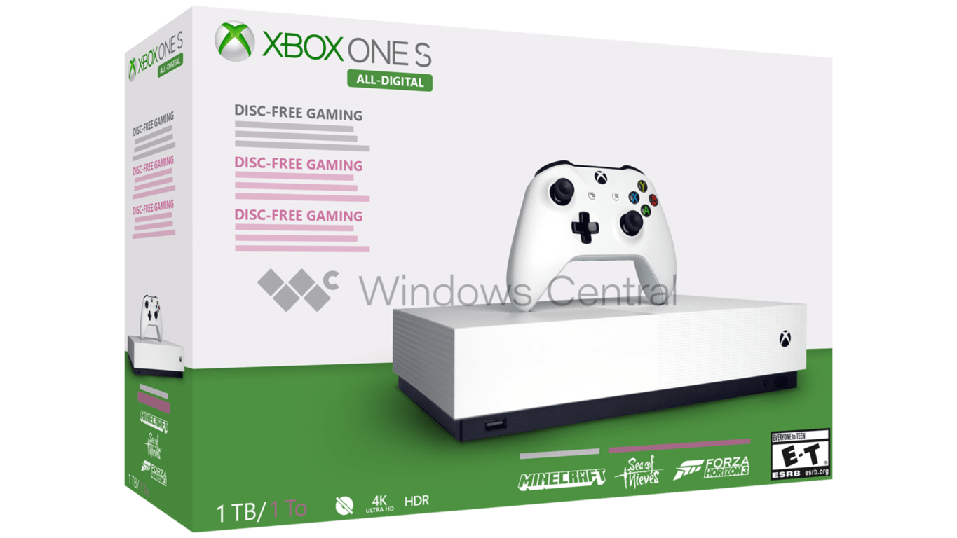 Xbox one s all digital edition will reportedly come with a 1tb hard drive and three games, with a possible may 7 launch - onmsft. Com - march 21, 2019