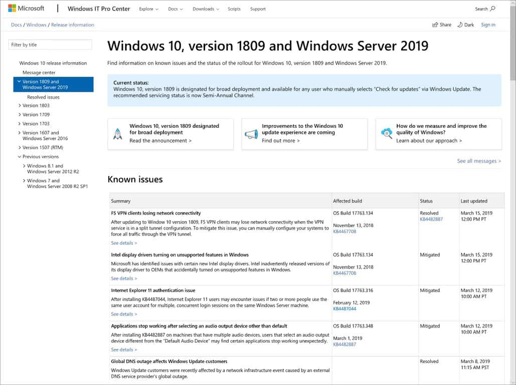 Microsoft to changes how it pushes Windows 10 updates starting with the May 2019 update OnMSFT.com April 4, 2019
