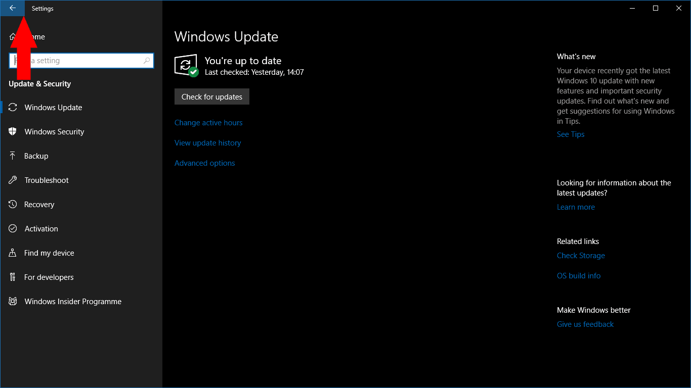 UWP back buttons in Windows 10