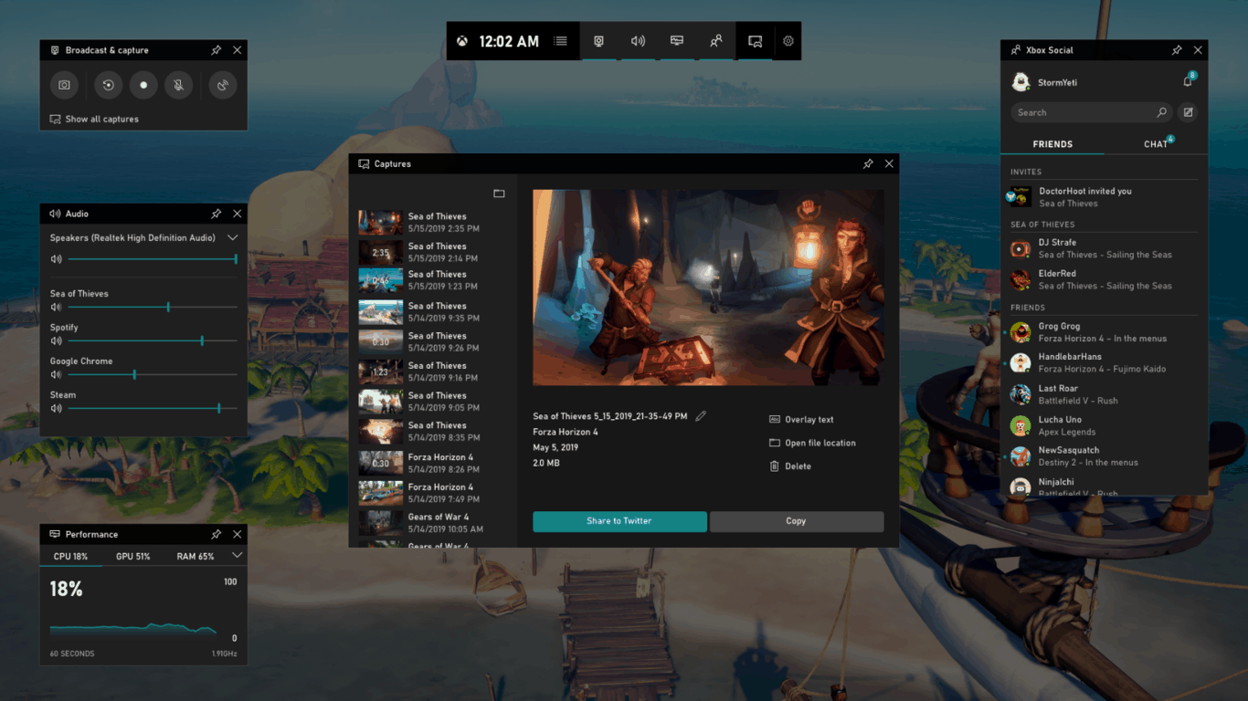 New xbox game bar starts rolling out to pcs running windows 10 may 2019 update - onmsft. Com - may 22, 2019