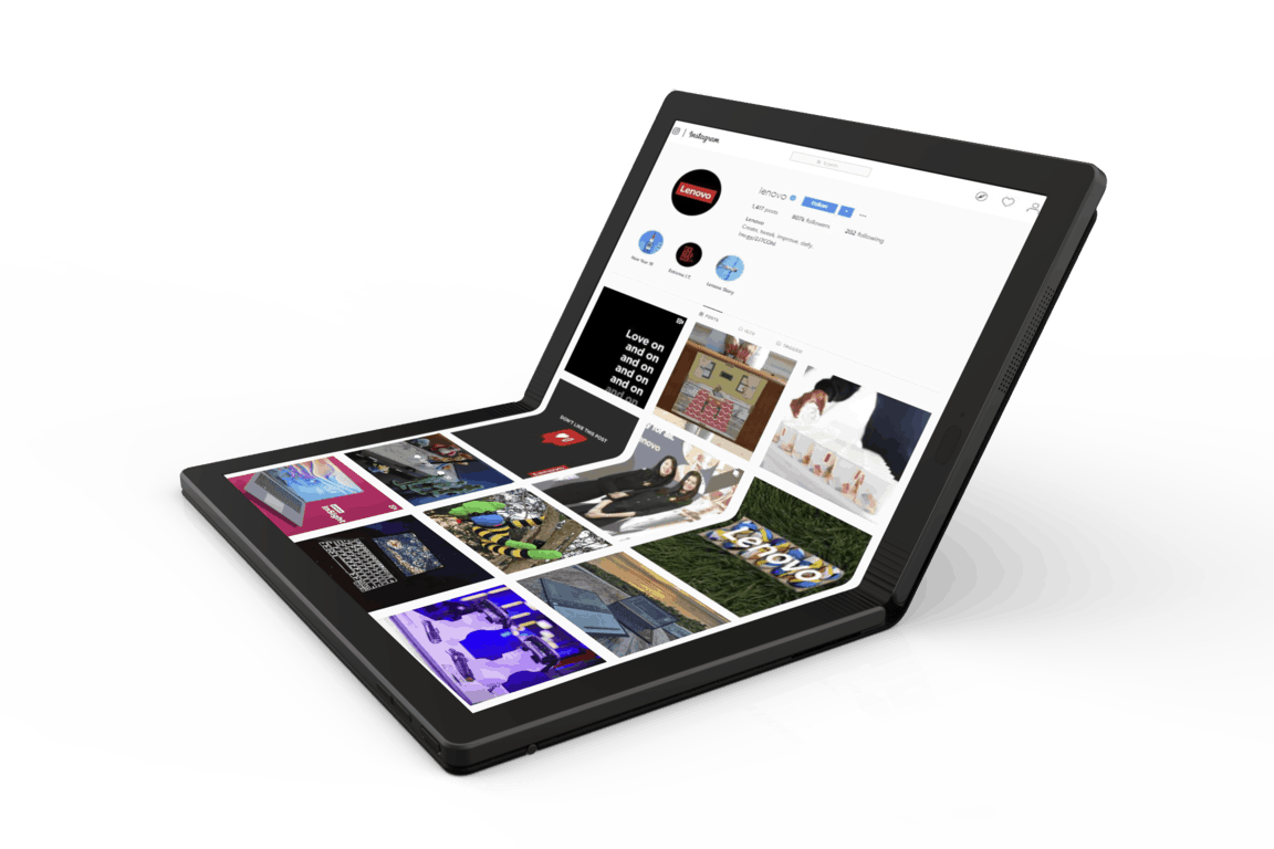 Lenovo joins the foldable fray with new thinkpad x1 prototype - onmsft. Com - may 13, 2019