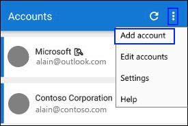 Microsoft Authenticator add an account