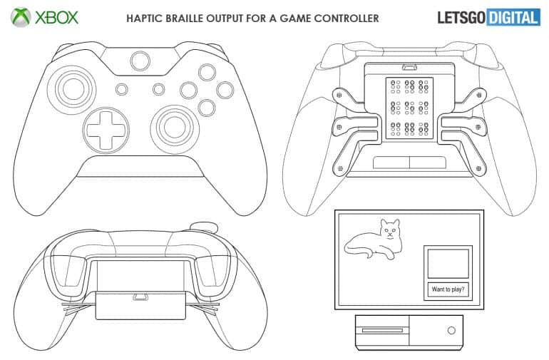 New microsoft patent shows xbox controller with haptic braille output - onmsft. Com - may 6, 2019